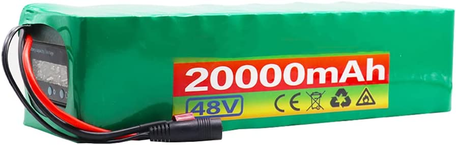 HLDUYIN 48 V 20Ah Paquete Batería Iones Litio Bicicleta Eléctrica Batería Litio 13s3p Adecuada para Motores Bicicleta Eléctrica Dentro 1000 W con Pantalla Voltaje + BMS + Cargador