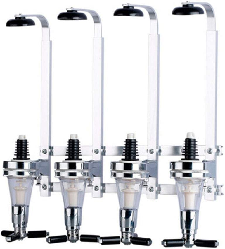 4 Bottle Liquor Superior Dispenser Challenge the lowest price Wall Stand Drinks Mounted Spirit Opti