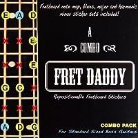 Fret Daddy スケール教則シール ベース用 コンボパック