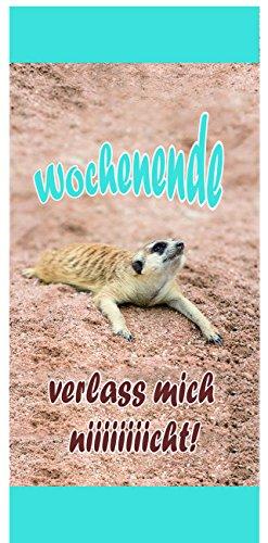 Sü-Verlag 97783 - Badetuch Xtreme Wochenende Erdmännchen