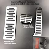 XIUFANG Placa LHD Pedales manuales de Acero Inoxidable Freno de Combustible Pedal Pedal Fit para Audi Q3 2012 2013 2015 2015 2015 2016-2018 Pad Reemplazo (Color Name : Style 4 AT 3pcs)