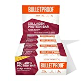 Collagen Protein Bars, Fudge Brownie, 11g Protein, 12 Pack, Bulletproof Grass Fed Healthy Snacks,...