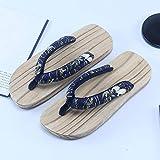 YYTIANYY Flip Flop Flip Flops Kimono Japonais Oriental Geta Sabots Femmes Hommes Chinoise Toe en Bois Pantoufles Beach Outdooranime Cosplay Sandales-3_42 Pantoufles en Bois (Color : 3, Size : 37)