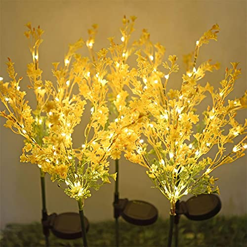 LUSHAasd Solar Lights for Garden, Waterproof Cauliflower Fairy Pathway Light String, for Lawn Terrace Wedding Party Outdoor Summer Decoration