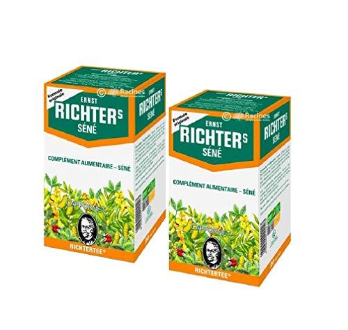 [ TOP FITNESS ] Juego de 2 cajas Ernst Richter Complemento alimenticio Senna 30g - 100% hierbas naturales / Regulación de tránsito / Adelgazamiento especial / 2 x 20 sobres de 1.5g