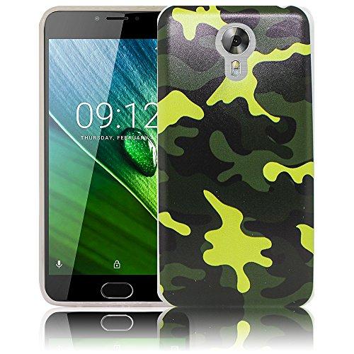 thematys Passend für Acer Liquid Z6 Plus Camouflage Silikon Schutz-Hülle weiche Tasche Cover Hülle Bumper Etui Flip Smartphone Handy Backcover Schutzhülle Handyhülle