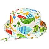 Happy Cherry - Sombrero Pescador de Sol para Niños Bebés Bucket Hat de...