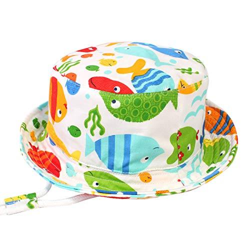 Happy Cherry - Sombrero Pescador de Sol para Niños Bebés Bucket Hat