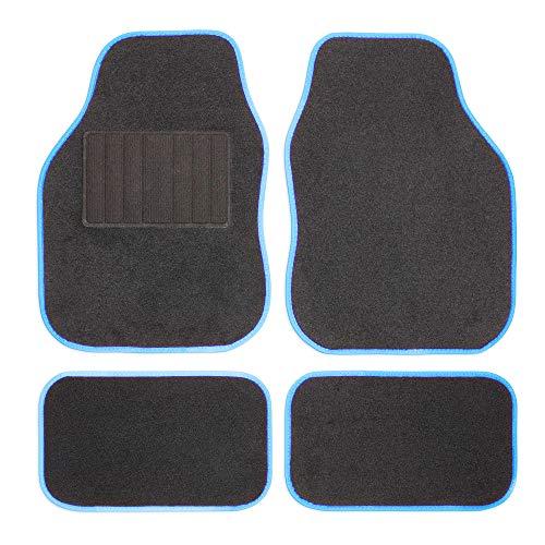 Safe Travel 27651 Universal-Automatten-Set für Linkslenker, Geschweißter Ferseneinsatz, Blaue Einfassung