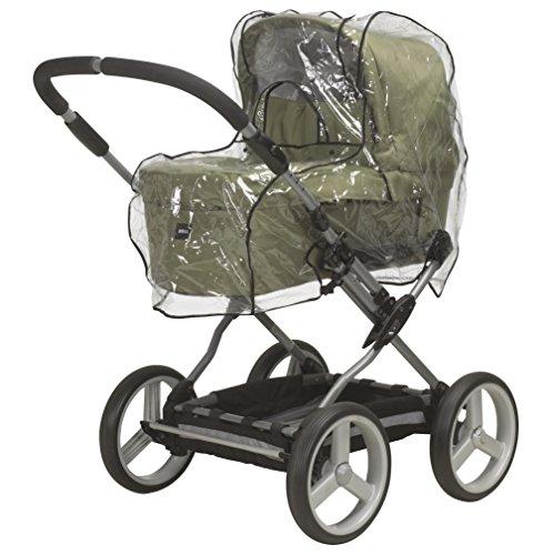 Playshoes 448945 Universal Regenverdeck, Regenschutz, Regenhaube für den Kinderwagen, mit Kontaktfenster