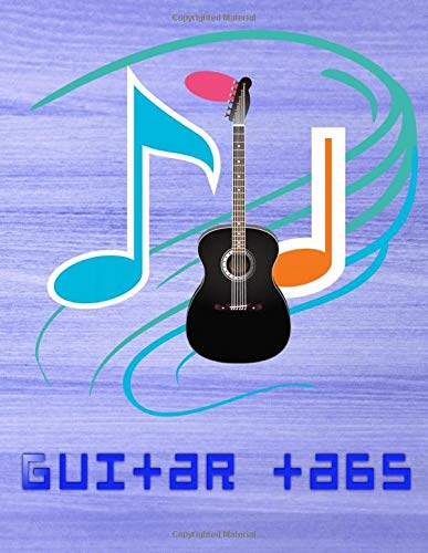 Beginner Guitar Tabs: Hotel California Guitar Tabs 108 Page Size 8.5 X 11 INCHES Glossy Cover Design Cream Paper Sheet ~ Play - Note # Guitar Quality Prints.
