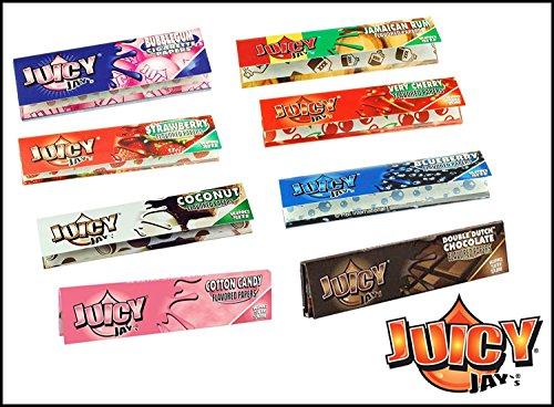 5 paquetes de mezclado Sabores Juicy Jay Tamaño King Papeles de liar - Multicolor