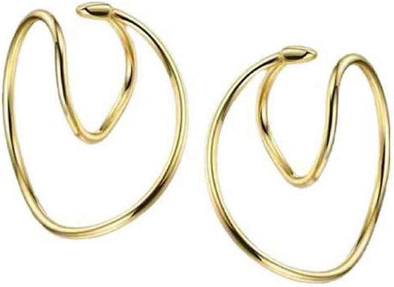 Y-YUNLONG 2020 Irregular Twisted Ear Clips Cartilage Earring Cuffs Non Piercing Jewelry
