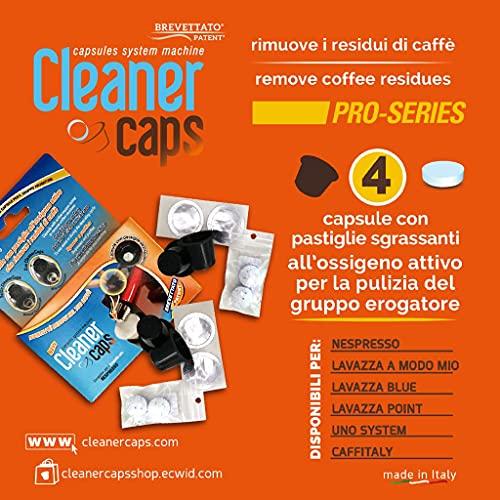 4 cápsulas de limpieza para todas las máquinas Nespresso.