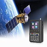 Crtkoiwa V9 Localizador de Satélite Medidor de Buscador de SeñAl Digital DVB-S / S2 Decodificador de Receptor de SeñAl H.265 1080P Configure con Precisión la Antena Satelital