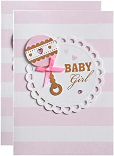 Baby Shower Blank Invitations Girl with Envelopes Cute Printed Invite Cards 25 Pack