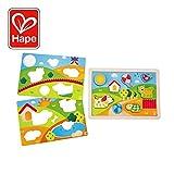 Hape- Puzzle infantil 3 in 1 Pepe y amigos (Barrutoys E1601) , color/modelo surtido