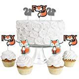 Mr. Foxy Fox Dessert Cupcake Toppers INCLUDES 24 clear treat picks, 24 shaped paper cut outs and stickers for easy assembly. DIY Mr. Foxy Fox cupcake supplies are perfect for a baby shower or birthday party. Plastic clear treat pick SIZE 4 inches tal...