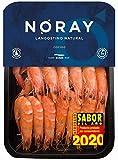 Langostino NORAY, Ultra FRESCO y Nunca Congelado, COCIDO, 40/60 Piezas por Kilo - Bandeja 1kg