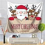 YYRAIN Navidad Tapiz Hogar Arte De La Pared Decoración Fondo Paño Banquete Regalo Colgante De Pared Multifuncional Toalla De Playa 30x36 Inch[75x90cm]