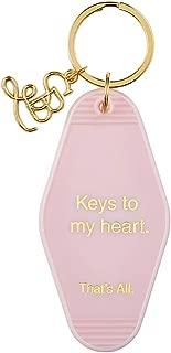 Pink Keys to My Heart Vintage Motel Key Tag, 3 1/2 Inch