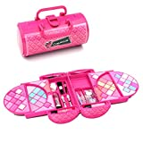 Make Up Set Koffer Pink Kinderschminke Schminkkoffer für Kinderkoffer Kosmetik Palette Lidschatten...