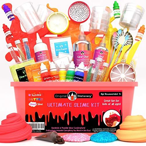 Original Stationery Kit de Slime para Elaboración DIY con Complementos Slime Unicornio, Fluffy, Glitter, Purpurina, Nube, Mantequilla, Espuma y Más para Niñas y Niños Niñas