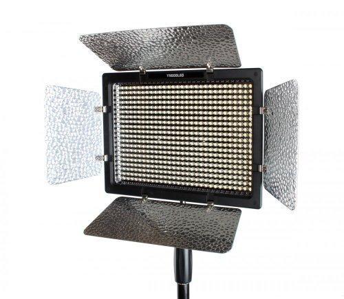 YONGNUO YN-600L 600 LED Luz / Lámpara / Iluminación del Estudio Fotográfico Lámpara de vídeo * 3200k-5500k Ajustable * con Control Remoto para Canon Nikon DSLR Cámara (YN-600L 3200k-5500k)+Adaptador de corriente AC