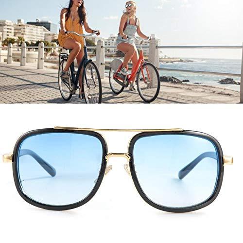 Gafas de sol vintage Gafas de sol de moda resistentes al desgaste, para oficina, para familia(Black frame double blue film)