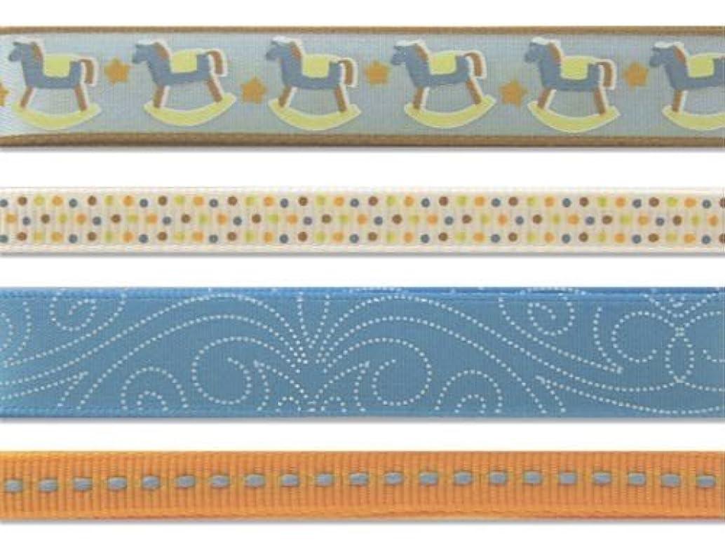 KAREN FOSTER Design Craft Ribbon Trimmings, Baby Boy