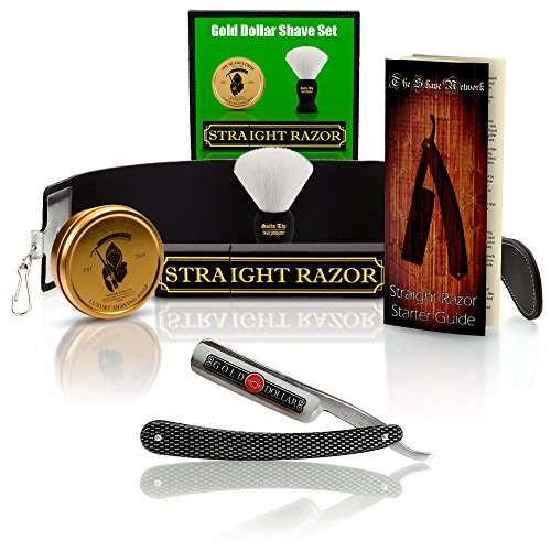 ~Shave Ready~ Shaving Straight Razor 6/8' GD w/Box 208 Gold...
