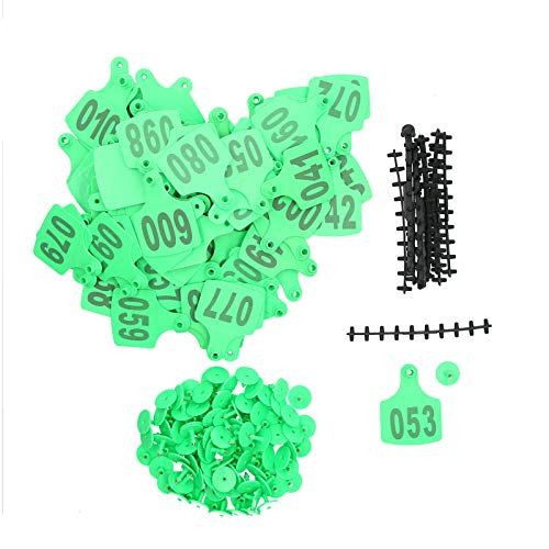 Suprimentos agrícolas, etiquetas auriculares antiferrugem, para gado(verde)