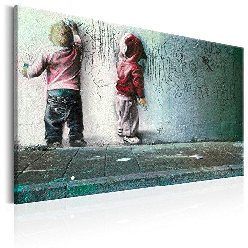 murando - Bilder 120x80 cm Vlies Leinwandbild 1 TLG Kunstdruck modern Wandbilder XXL Wanddekoration Design Wand Bild - Poster Kinder Mural Banksy i-B-0024-b-c