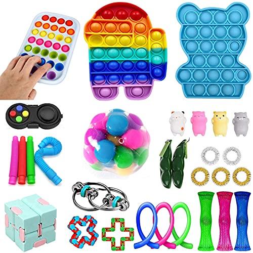 Fidget Toys Set, Barato Sensory Fidget Toys Puser Bubble Pop Toy Kit, Paquete De Juguetes De Alivio De Ansiedad De EstréS, Para Agregar AutíO Autico AutíSticos AutíSticos Autisio Autisio ( Color : D )
