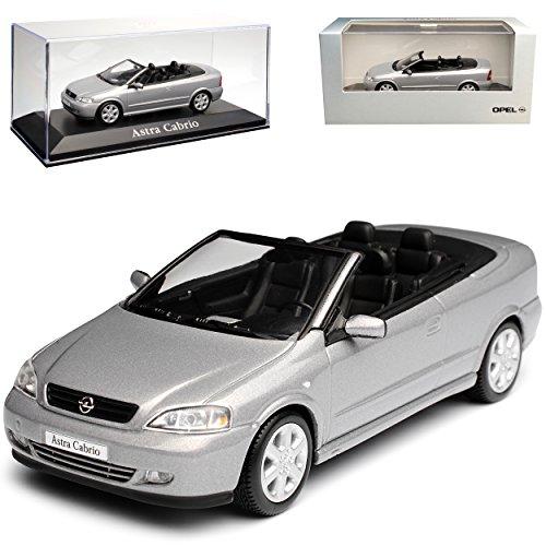 Minichamps Opel Astra G Cabrio Silber Grau 1998-2005 1/43 Modell Auto mit individiuellem Wunschkennzeichen