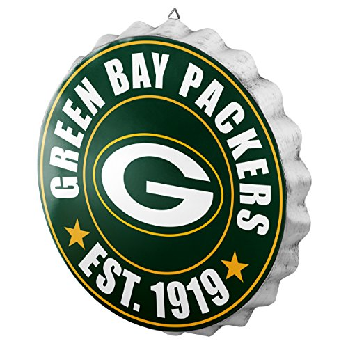 Green Bay Packers NFL Bottle Cap Wall Sign