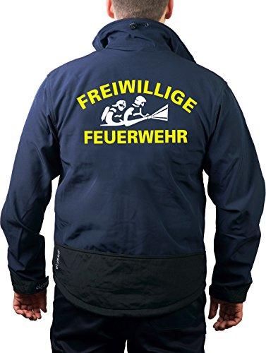 Veste softshell - Bleu marine - Pompiers volontaires avec AGT