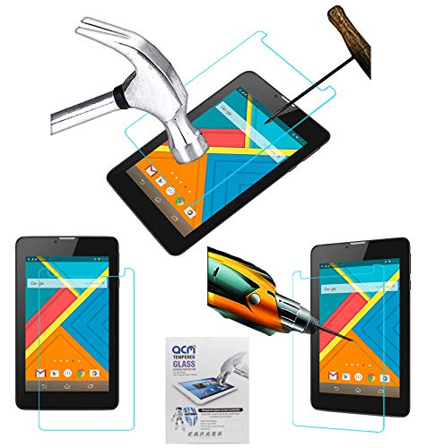 Acm Tempered Glass Screenguard Compatible with Rdp Gravity G716 Tablet Screen Guard