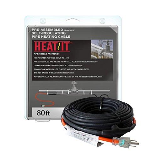 HEATIT JHSF 30-feet 220V Self Reglating Pre-asembled Pipe Heting Cable (Renewed)