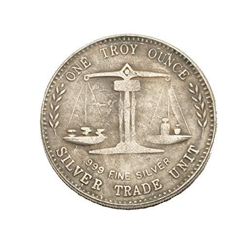 Eqerlian Silberdollar Silbermünze Antikensammlung Messingmünze US 999 Handelssilbermünze 1 Unze Münzsilberdollarsammlung