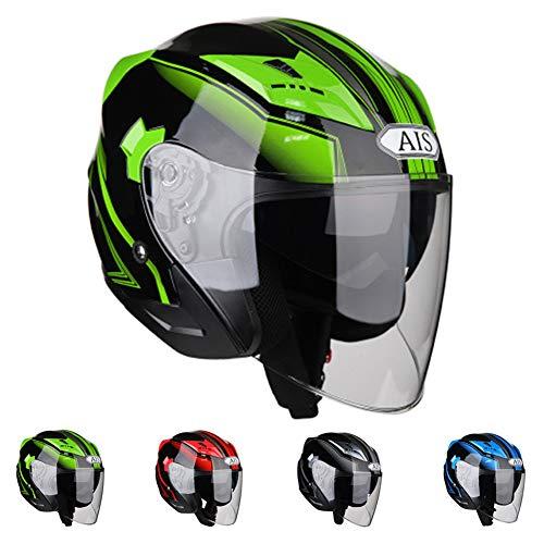 KuaiKeSport Casco Moto Jet,Casco Patinete Electrico con Gafas de Doble Protección Mujer...