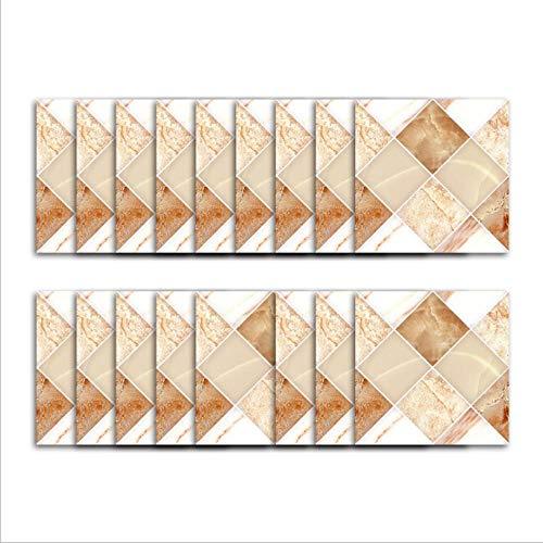 Adhesivo de vinilo para azulejos/mármol en forma de diamante, costuras cuadradas, decoración de fondo de TV, adhesivo de pared tridimensional para cocina, adhesivo para azulejos