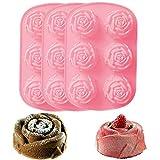 Gurxi 3 Stücke Molds Formen 3D Rose Blume Silikonform mit Großen Rosen Fondant Geschenk Dekorieren...