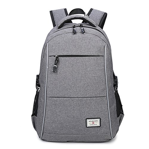 15.6 Slim Laptop Backpack for Men Women College Business Notebook Computer Backpack Rucksack with USB Port (Dark gray)
