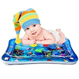 POWOBEST Tummy Time Water Mat Baby Play Mat with Air Pump, Infant Inflatable Water Activity Play Mat for 3-12 Months Newborn Boy Girl BPA-Free-