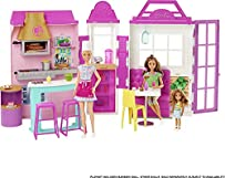 Barbie Cook 'n Grill Restaurant Playset Doll, 30+ Pieces & 6 Play Areas Including Kitchen, Pizza Oven, Grill & Dining Booth, Gift for 3 to 7 Year Olds
