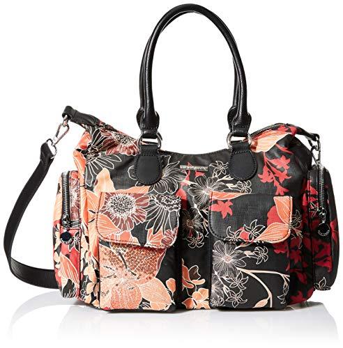 Desigual Damen Bag Arty Gaia London Umhängetasche, Negro, Einheitsgröße