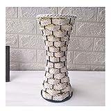 DEF Vase en Fer forgé en rotin Vase Pastorale Creative Style Pastorale, Fleurs séchées Conteneur d'arrangement de Fleurs pour Salon Décoration de Jardin (Color : M-4)