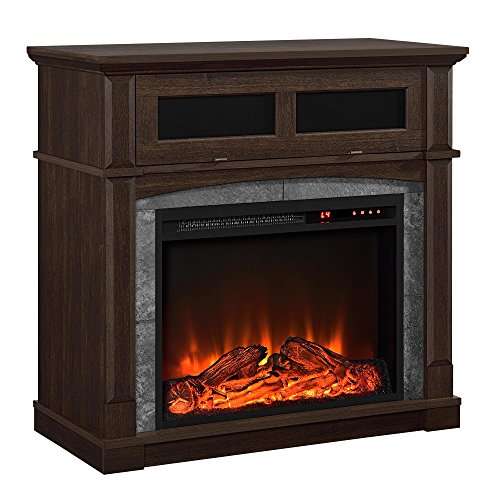 Ameriwood Home Thompson Place Media Fireplace for TVs up to 37', Cherry