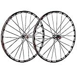 ZCXBHD 26/27,5/29 Pulgadas Fibra Carbon Cubo Bicicleta Montaña Juego De Ruedas MTB Delantera Trasero Rueda 5 Rodamiento Pared Doble 7 8 9 10 11 Velocidad Casete (Color : Thru axle, Size : 26inch)